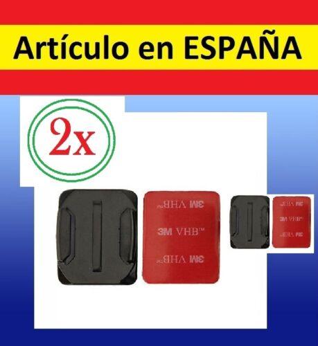Soporte CASCO BICI MOTO Camara accesorios GOPRO HERO 1 2 3+cristal 2x Pegatina
