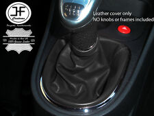 BLACK REAL LEATHER MANUAL GEAR STICK GAITER FITS SEAT LEON 1P 2005–2011