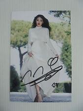 Suzy Bae Miss A 4x6 Photo Korean Actress KPOP autograph hand signed USA Seller 2