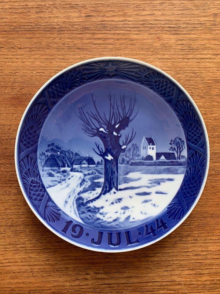 Porcelæn, Juleplatte 1944, Royal Copenhagen