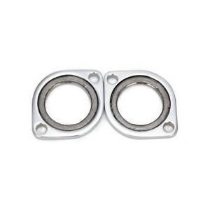 Chrome-Exhaust-Oval-Flange-Repair-Pipe-Kit-Gasket-For-Dyna-Street-Bob
