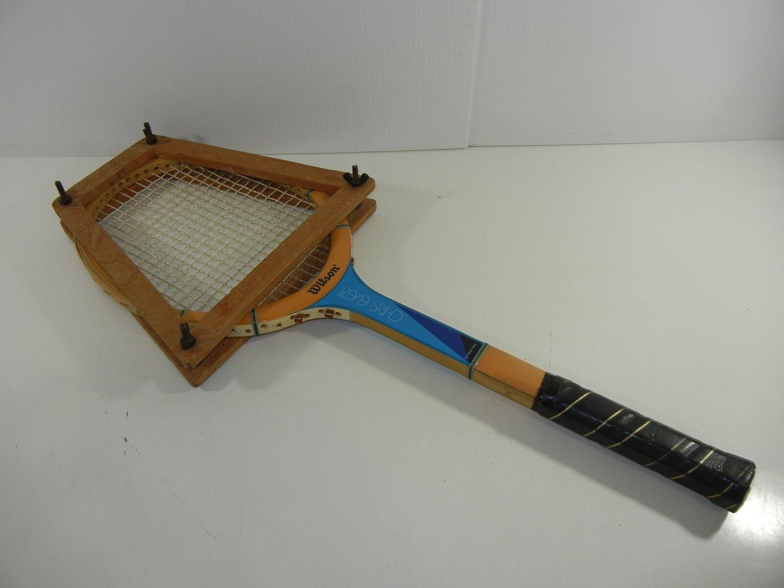 Wilson  Chris Egreen  Vintage Tennis Racquet W  Wooden Frame Press