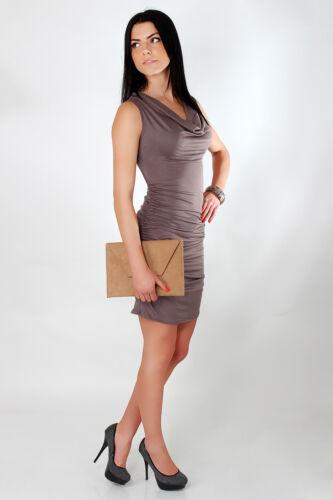 Womens Lovely Cowl Neck Dress Draped Sleeveless Party Bodycon Sizes 8-18 5508