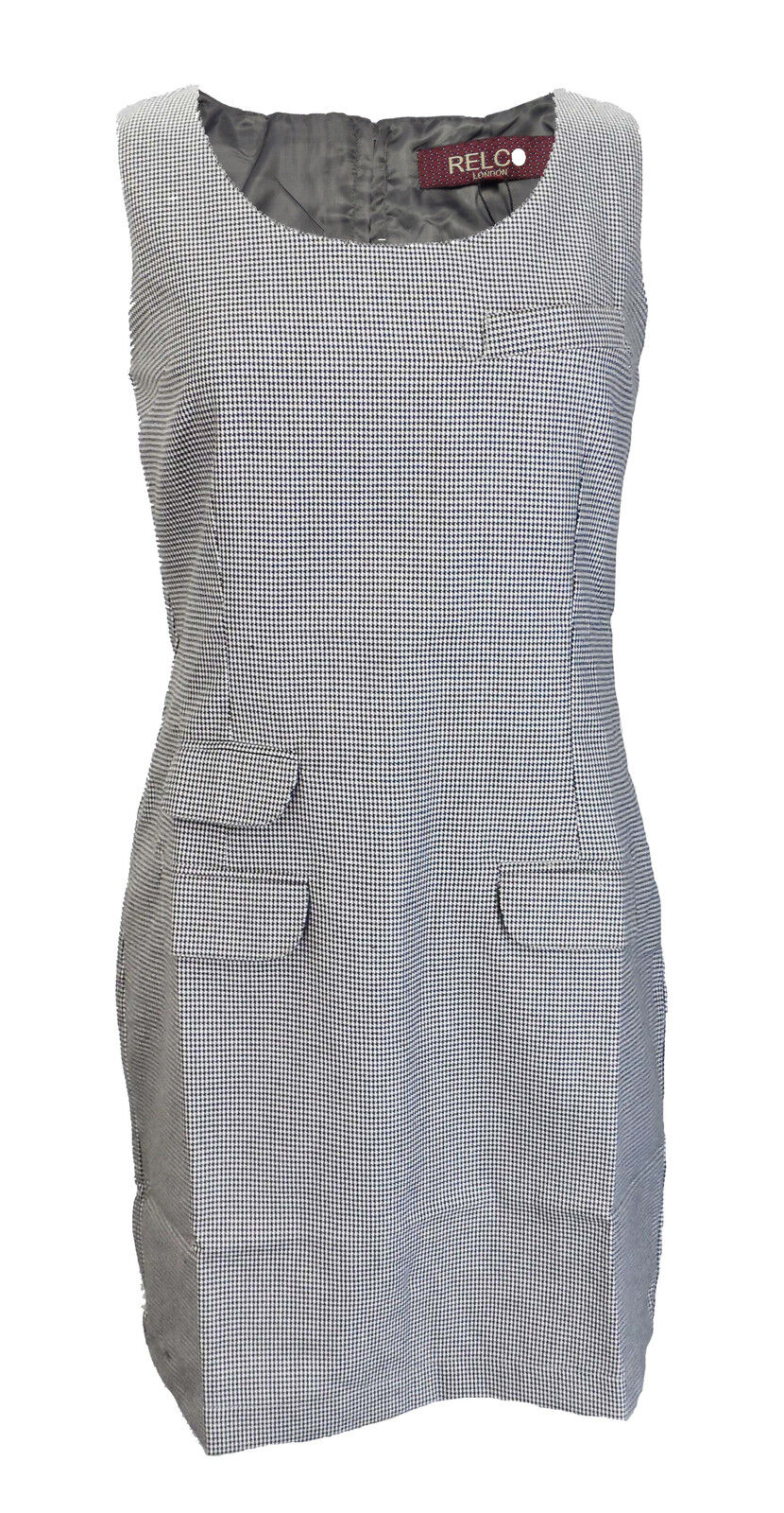 DaMänner Retro Mod Hahnentritt Pinafore Tunika Kleid