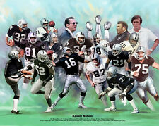 Oakland Raiders 17 LEGENDS POSTER Print - Madden Stabler Guy Allen Bo Jackson ++