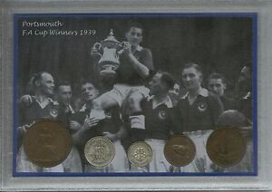 Portsmouth-Play-Up-Pompey-Chimes-Vintage-FA-Cup-Final-Winners-Coin-Gift-Set-1939