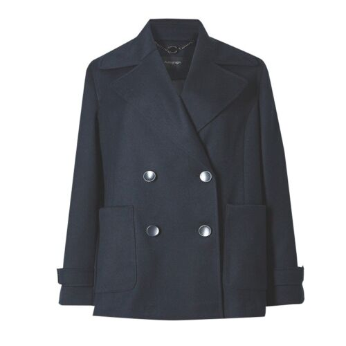 M/&S Autograph Navy Double-Breasted Blazer Jacket