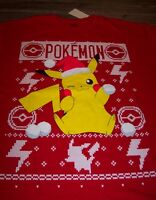 Nintendo Pokemon Pikachu Throwing Snowballs Christmas T-shirt Large W/ Tag