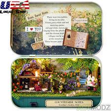 DIY Wooden Dolls house Kit /LED Light Miniature Model Handmade Cases Birthday GF
