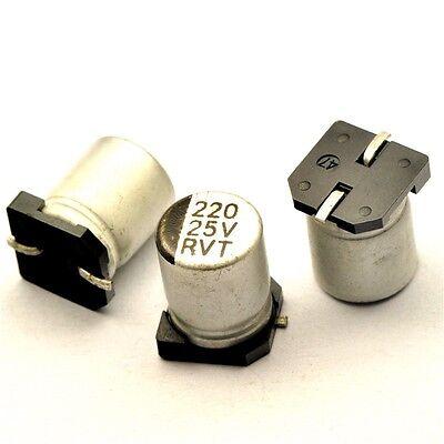 20PCS 220UF 16V SMD Aluminum Electrolytic Capacitors 6.3*7.7mm
