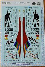 Microscale Decal #AC72-0038 Aircraft Decal: F-4's: F-4B VF-51, F-4J VF-96