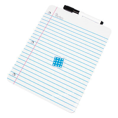 """Small 11/"""" x 8.5/"""" Lined Magnetic Dry Wipe White Board /& Pen Message Memo Notes"""