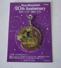 Tokyo Disneyland 20th Anniversary Mickey Mouse Tinkerbell Charm Dangle Disney