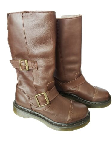 Dr. Martens Women's Kathleena  Brown Leather Boot