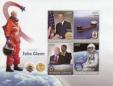 Gabon 2017 MNH John Glenn Tribute 4v M/S Ships Space Medals Stamps