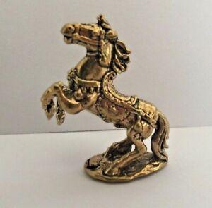 Estatuilla-Caballo-Trasero-Figura-de-Laton-Amuleto-Animal-Base-Camboya-Asia-a8
