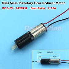 6mm Dc 3v 242rpm Micro Mini Tiny Coreless Planetary Gearbox Gear Reduction Motor
