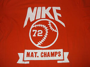 Reparador aparato Arturo  NIKE Regular Fit 72 Nat. Champs Basketball T Shirt Sz Large 100% Cotton  National | eBay