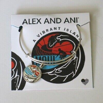 Alex and Ani Maui Island Hawaii Exclusive Expandable Silver Bangle Bracelet Maui