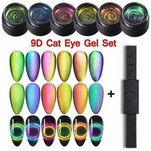 7pcs-set-NICOLE-DIARY-5ml-9D-Magnetisch-UV-Gellack-Soak-off-Nagel-Magnet-Stick