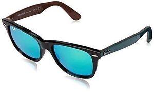 053c78b61717a Ray-Ban Green Flash Original Wayfarer Bicolor Sunglasses - Rb2140 117519 54