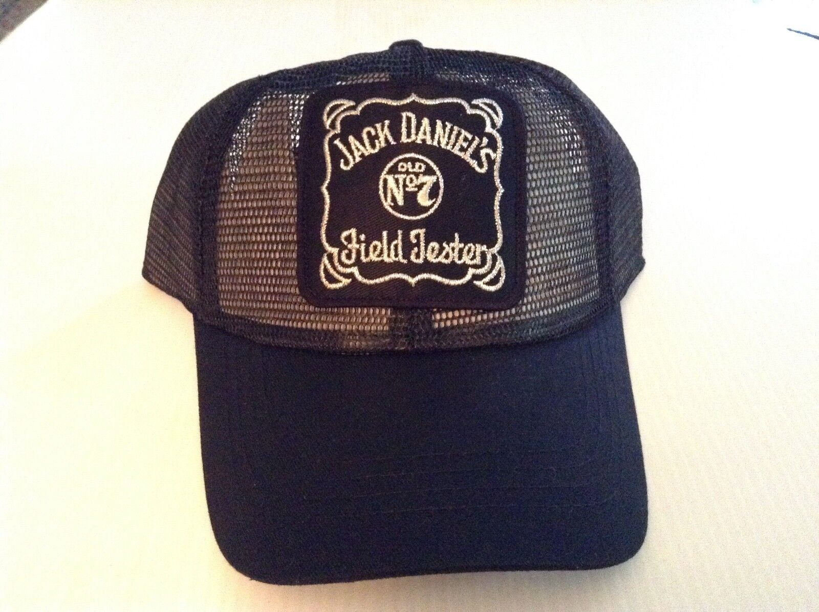 VTG New Jack Jack Jack Daniels Field Tester Patch Mesh Snapback Trucker Hat - Cool e59a04