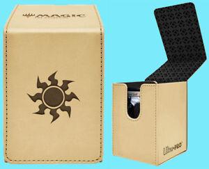 ULTRA-PRO-MTG-MATTE-WHITE-ALCOVE-MANA-PLAINS-FLIP-DECK-BOX-Card-Storage-Case