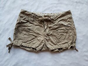 UNIONBAY-Mini-Shorts-Girls-10-M-Khaki-Tan-Brown-Pockets-Drawstring-Waist-Adjust