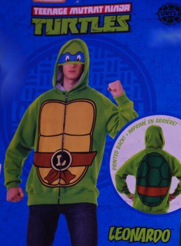 Mens Teenage Mutant Ninja Turtles Leonardo Halloween Costume Hoodie L XL NEW
