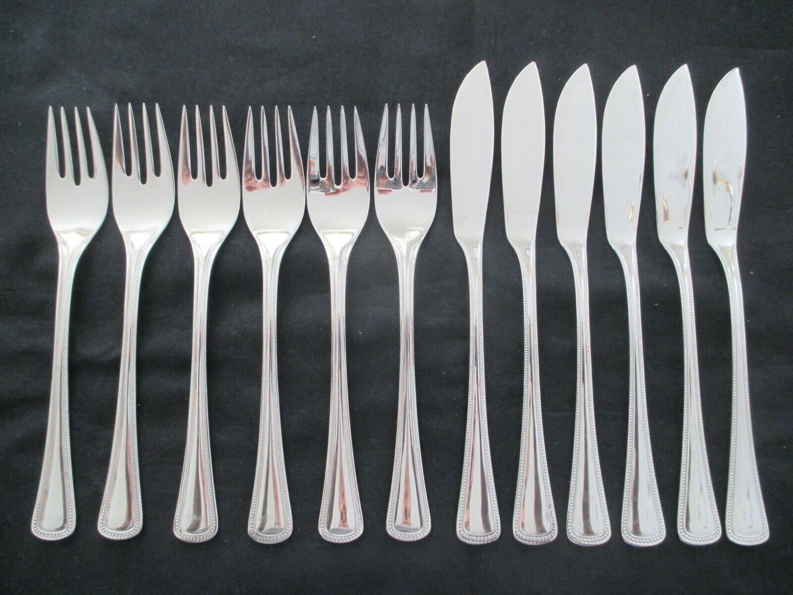 WMF La Haye Cromargan poisson couverts 6 POISSON Couteau + 6 Poisson fourche 12 pièces TOP
