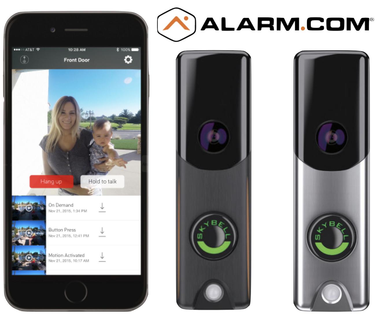 Skybell Slim Line Wi Fi Doorbell Camera Alarm Com Color