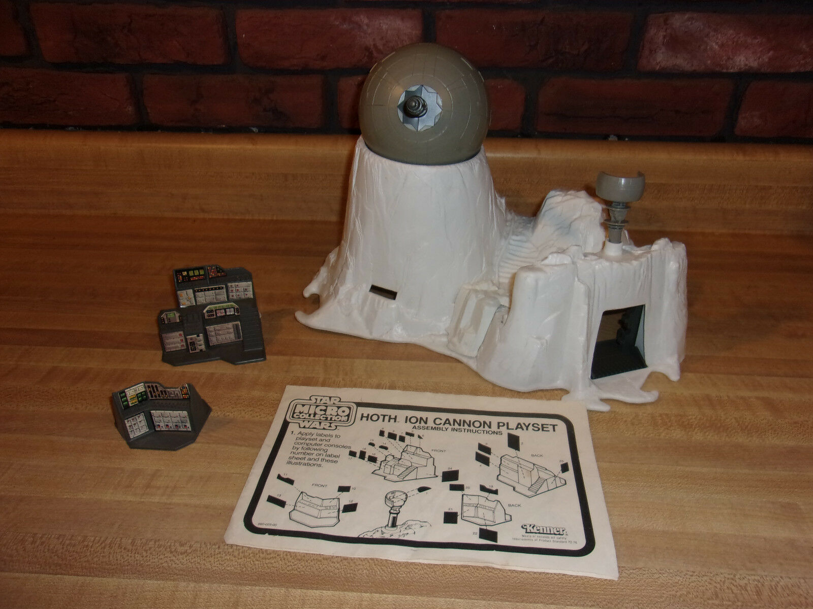 Star Wars Vintage 1982 Micro Hoth Ion Cannon with Directions