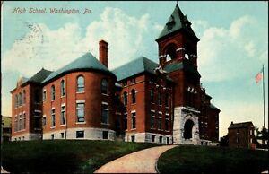 Washington-PA-Pennsylvania-High-School-Building-Postcard-c-1909