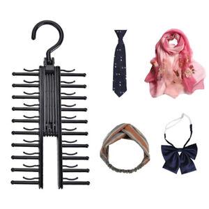 Tie-Hanger-Rack-Organizer-Rotating-Belt-Holder-Closet-Hook-Ties-Storage-Necktie