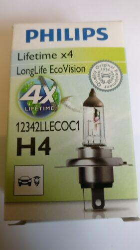 Longue vie ECO Vision Unique ampoule de phare x2 H4 12 V 60//55W Philips 2x ampoules