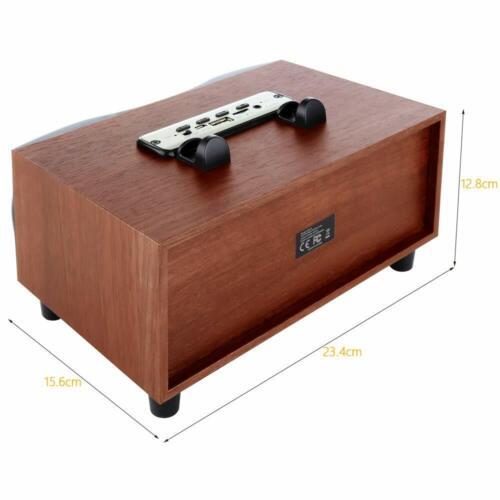 Desktop Wooden Wireless Bluetooth Portable Speaker With HD Sound /& Bass Support
