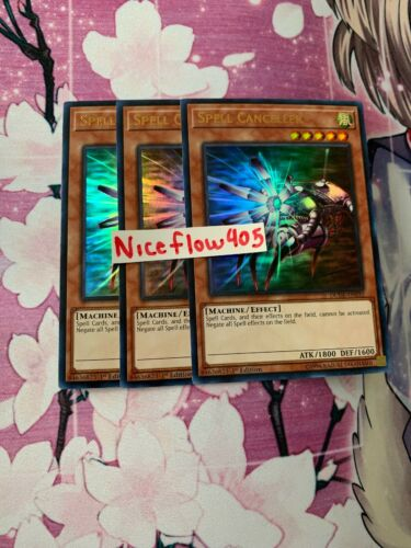 3x Spell Canceller 1st Edition Ultra Rare DUDE-EN032 Yu-Gi-Oh!