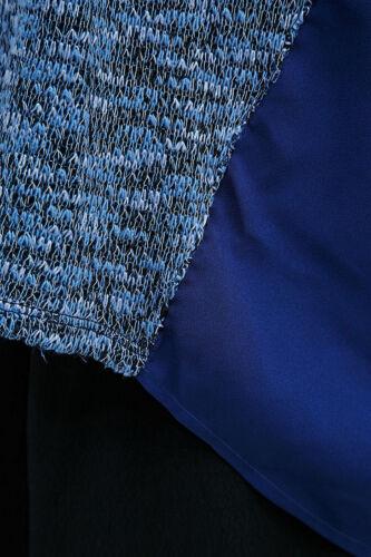 URBAN Outfitters luce prima DARK cucita pannello Cardigan-Blu Piccolo Rrp £ 42 miliardi