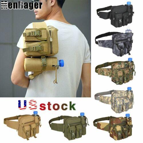 Men Fanny Pack Tactical Waist Bag Outdoor Travel Hiking Hip Bum Belt Chest Bag