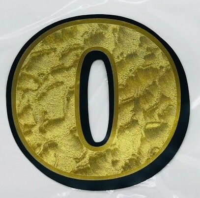 "8"" GOLD UNIVERSAL NUMBER DECAL 0-9 number plate race sticker digit name moto"