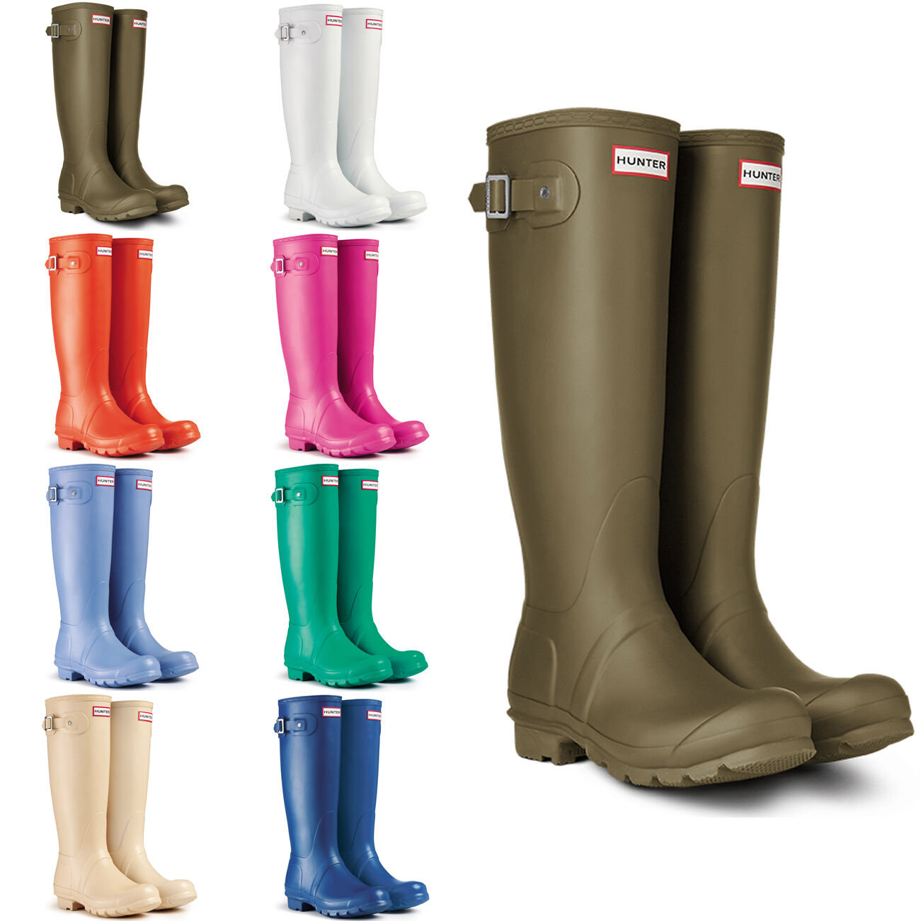 Womens Hunter New Original Tall Festival Snow Wellington Rainboots New Hunter US 5-11 b16eab