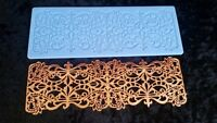 Cake Fondant Art Deco Lace Decorating Tool Silicone Mold Wedding Sugar Craft