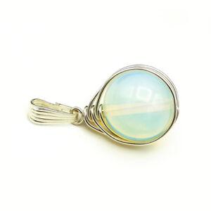MACHTIG-16mm-Kugel-Anhaenger-gross-Opal-Glas-Opalit-925-Sterling-Silber-massiv