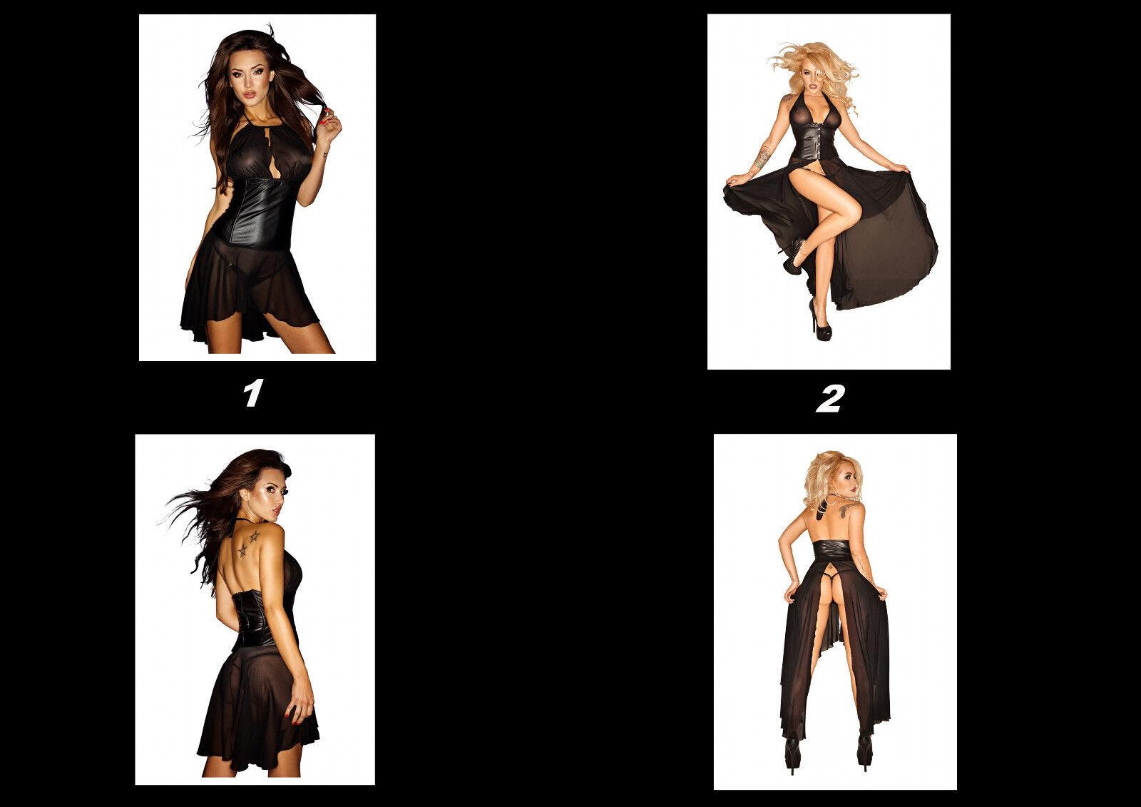 Wetlook Kleid mit Tüll, schwarz, offen, offen, offen, durchsichtig, Neu | Verkaufspreis  | Discount  | Heißer Verkauf  95e321