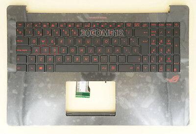 NEW for ASUS G501J G501JW Keyboard Palmrest red Backlit US No touchpad