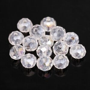 80pcs-Shiny-Clear-Crystal-Glass-Rondelle-Spacer-Bead-For-Diy-Bracelet-4x6mm