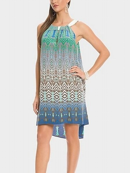 Guess By Marciano ROYAN Loose & Luxe Flowing Silk Gorgeous Print Trapeze XS S M