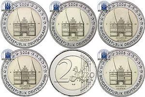 Deutschland-5-x-2-Euro-2006-Holstentor-Luebeck-Mzz-A-bis-J-Komplettsatz