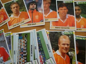 Panini-Voetbal-92-nederland-LOT-of-22-original-different-stickers