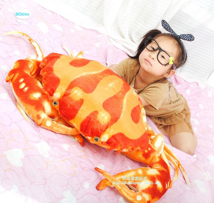 31   80 cm meer crab geformt stofftiers tier ausgestopft spielzeug kawaii kissen, kissen geschenk